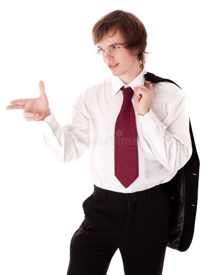 La rappresentazione dell'uomo d'affari conferma il gesto fotografie stock