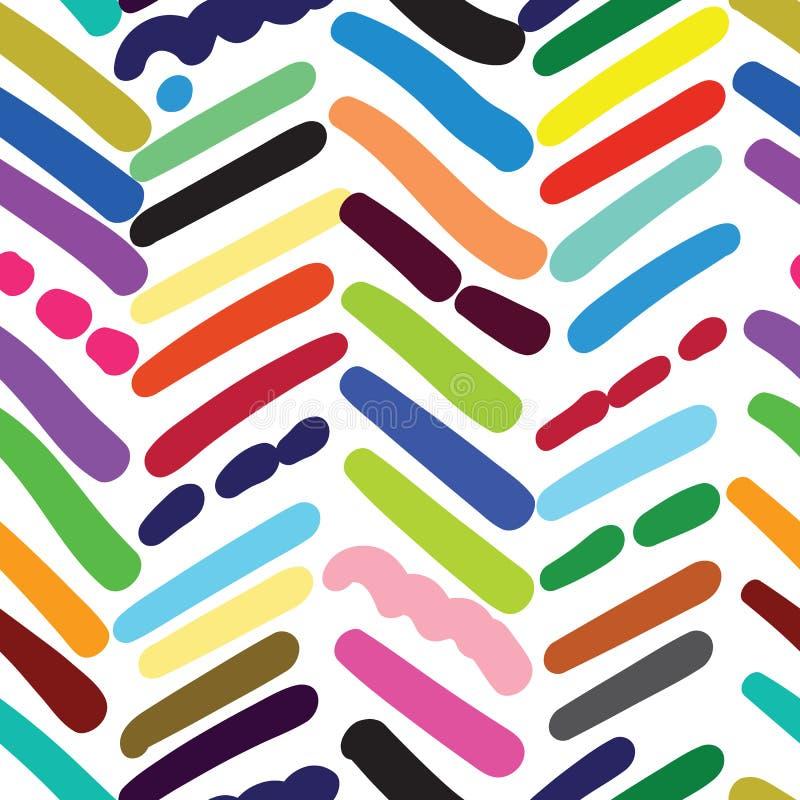 La raspa de arenque texturizó el modelo inconsútil con los movimientos al azar del cepillo libre illustration
