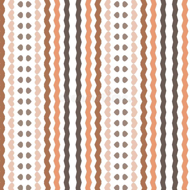 La raya beige simple retra de Brown alinea el modelo del fondo de la materia textil libre illustration