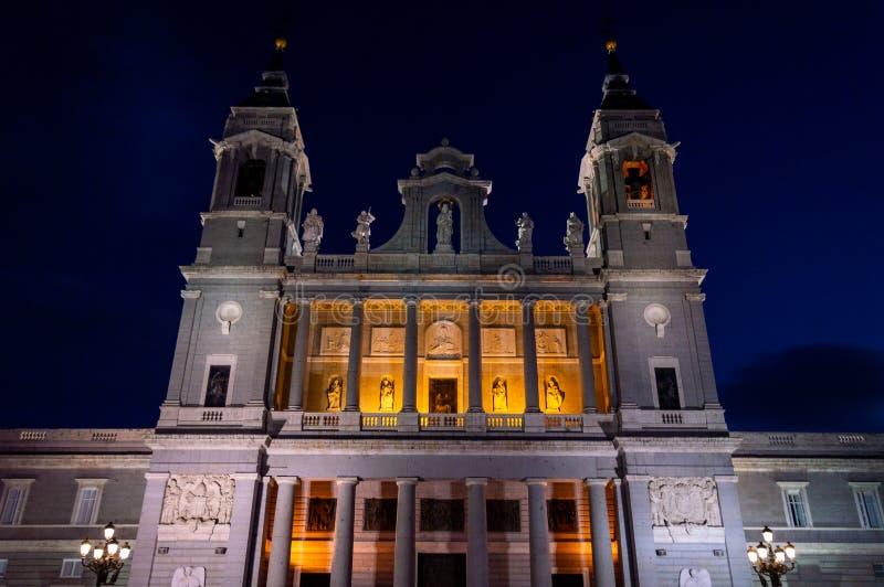 La Real de la Almudena de Catedral de Santa MarÃa imagem de stock royalty free