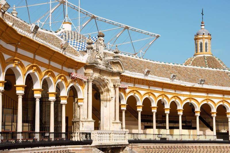 La reales Maestranza Piazzadetoros de in Sevilla lizenzfreie stockfotos