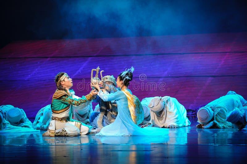 La realizzazione della luna di balletto di promessa-Hui sopra Helan immagini stock