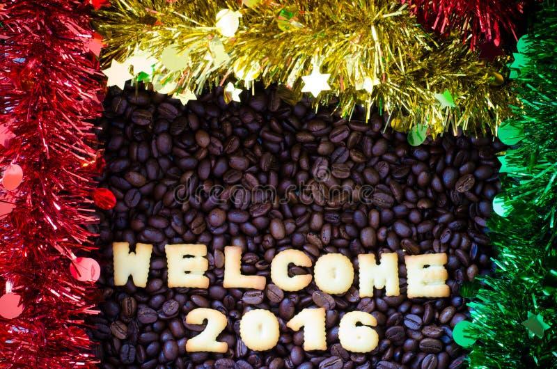 La recepción 2016 del alfabeto hizo de las galletas del pan imagen de archivo libre de regalías