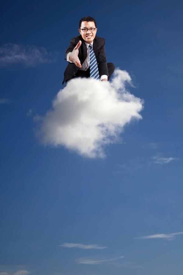 La recepción ensambla asunto de la nube foto de archivo