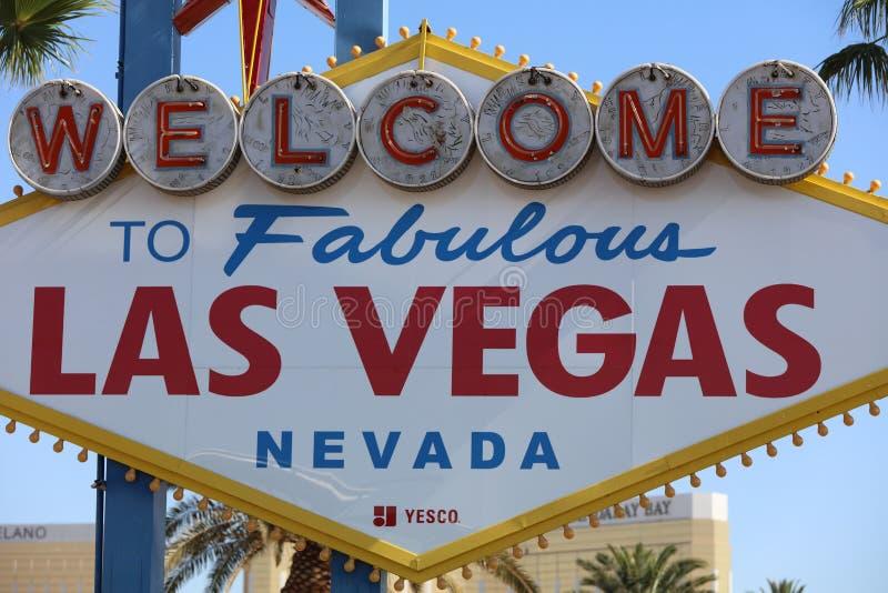 La recepción a Las Vegas fabuloso firma adentro Nevada imagenes de archivo