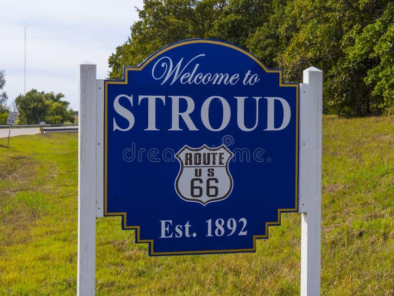 La recepción a Stroud firma adentro Oklahoma - STROUD - OKLAHOMA - 24 de octubre de 2017 fotos de archivo libres de regalías