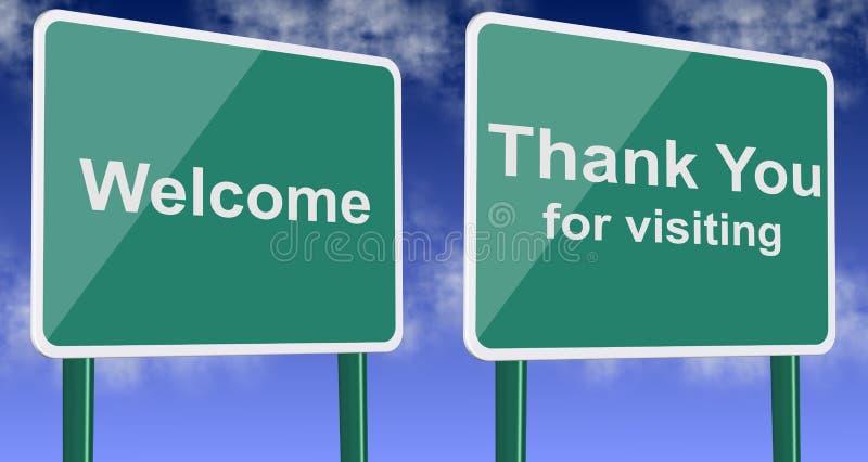 La recepción y le agradece por visitar libre illustration