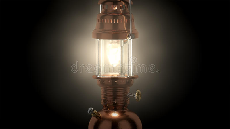 La recherche élevée 3d a rendu la lampe de pétrole illustration de vecteur