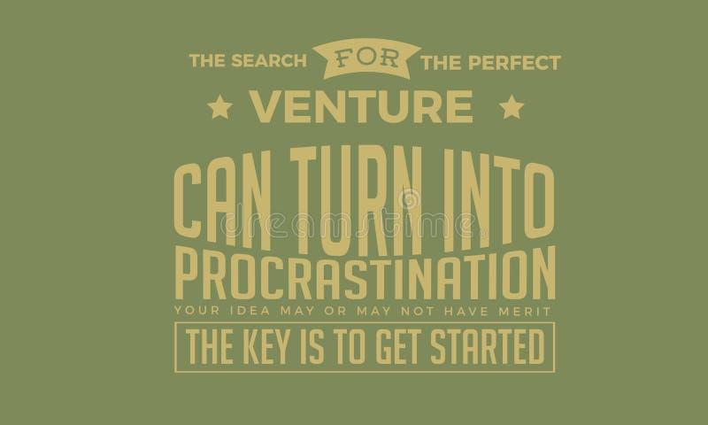 La recherche de l'entreprise parfaite peut se transformer en temporisation illustration stock