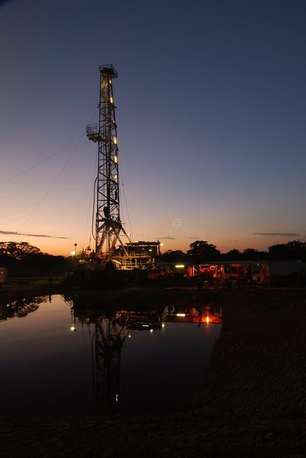 La recherche du gaz naturel images libres de droits