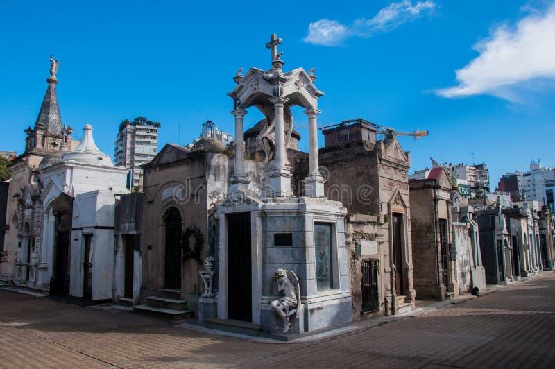 La Recoleta公墓在布宜诺斯艾利斯,阿根廷 库存图片