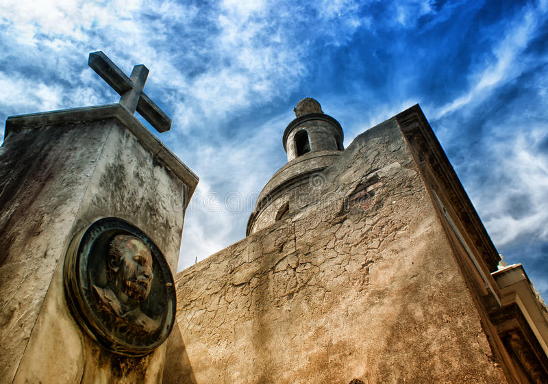 La Recoleta公墓在布宜诺斯艾利斯 免版税库存照片