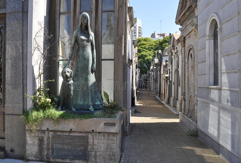 La Recoleta公墓 免版税库存照片