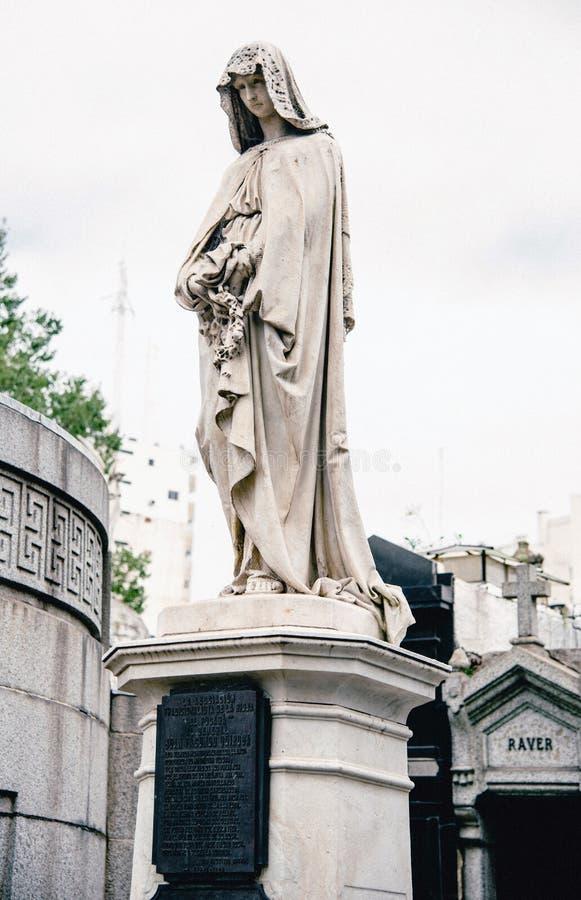 La Recoleta Cemetery royalty free stock images