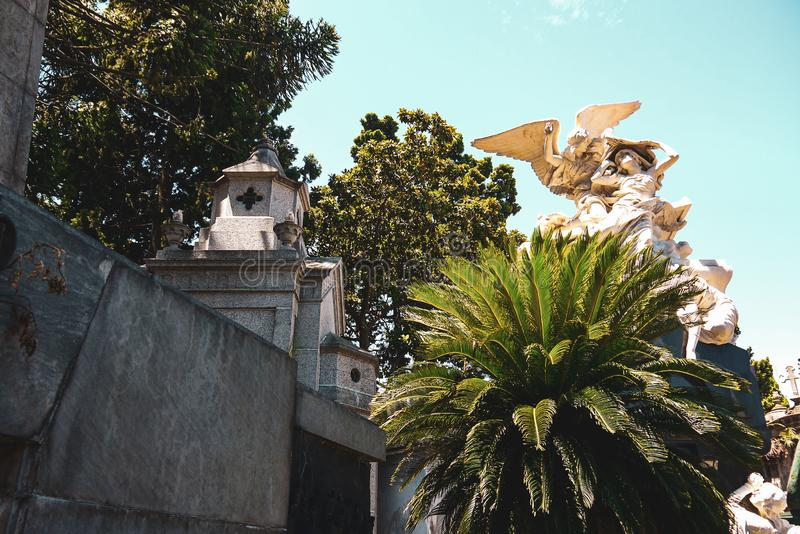 La Recoleta Cemetery in Buenos Aires royalty free stock photo