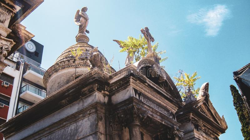 La Recoleta Cemetery in Buenos Aires stock photos