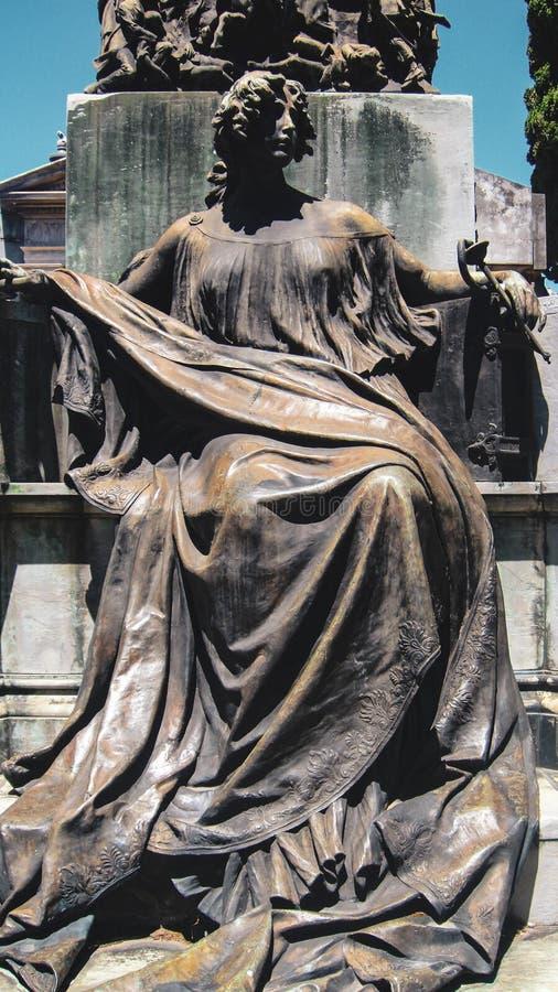 La Recoleta Cemetery in Buenos Aires royalty free stock image