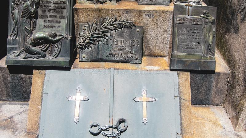 La Recoleta Cemetery in Buenos Aires royalty free stock images