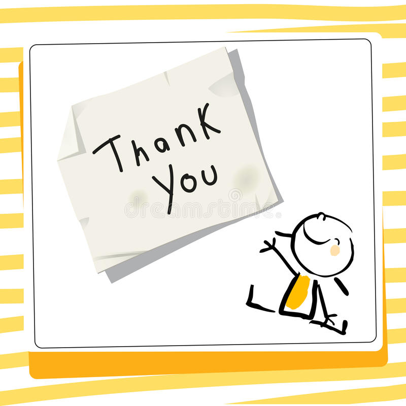 La reconnaissance d'enfants vous remercient de carder illustration stock
