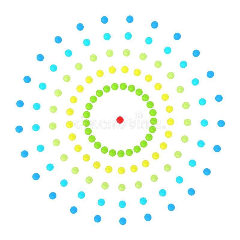 La red abstracta del concepto de cuentas de cristal en un fondo blanco stock de ilustración