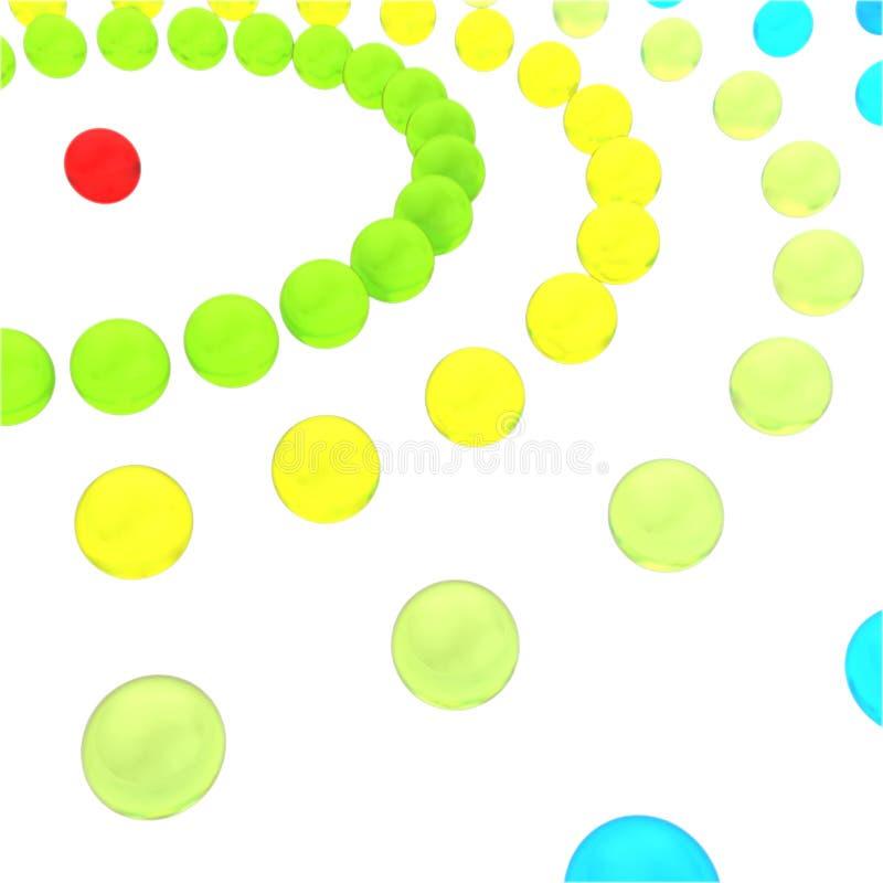 La red abstracta del concepto de cuentas de cristal en un fondo blanco imagen de archivo libre de regalías