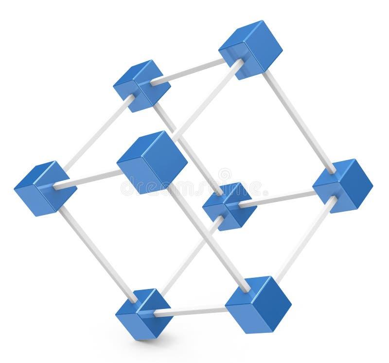La red del cubo ilustración del vector