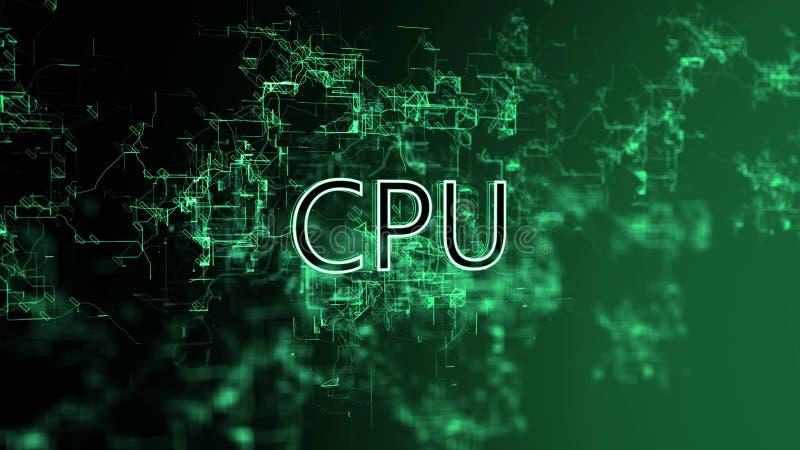 La red digital CPU del texto stock de ilustración