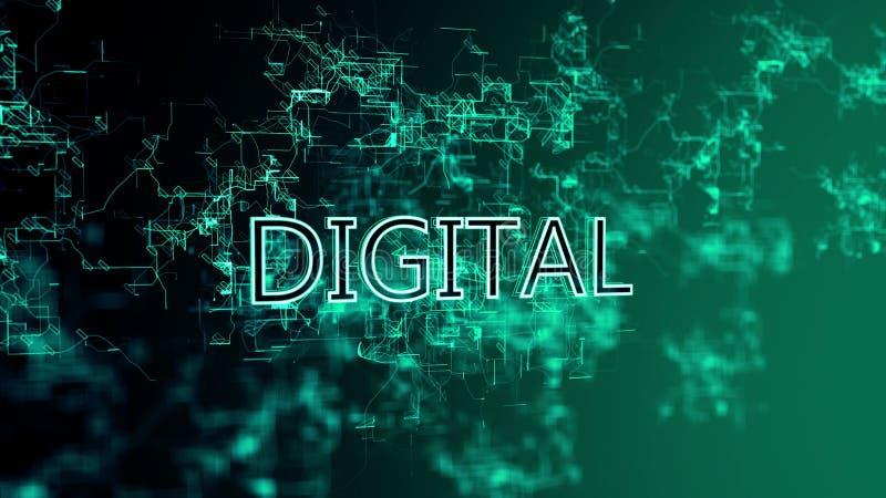 La red digital Texto DIGITAL libre illustration