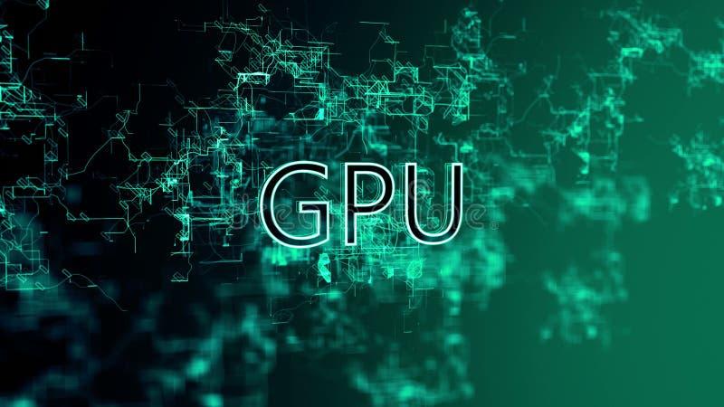 La red digital Texto GPU stock de ilustración