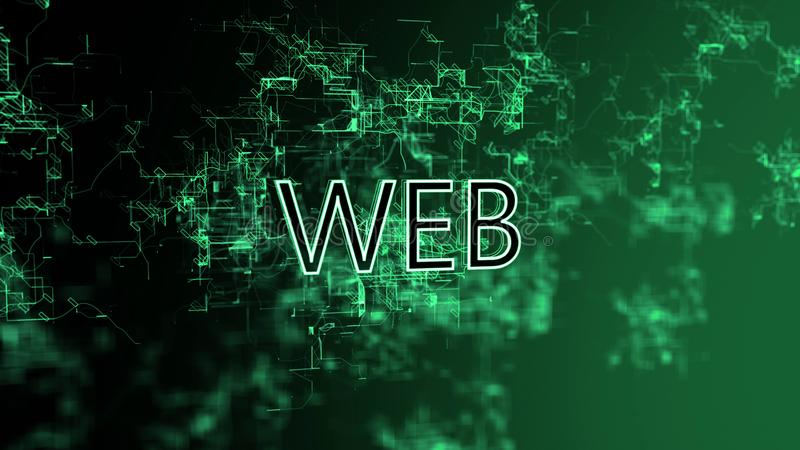 La red digital Web del texto ilustración del vector
