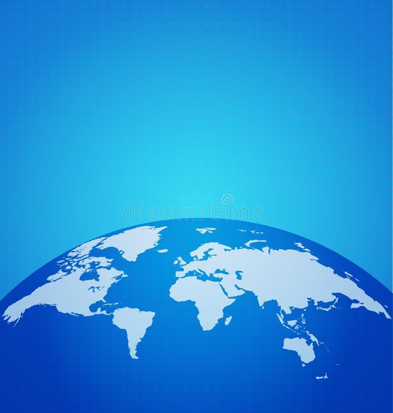 La red global de la tecnología con el mapa del mundo digital del punto, vector enfermedad ilustración del vector