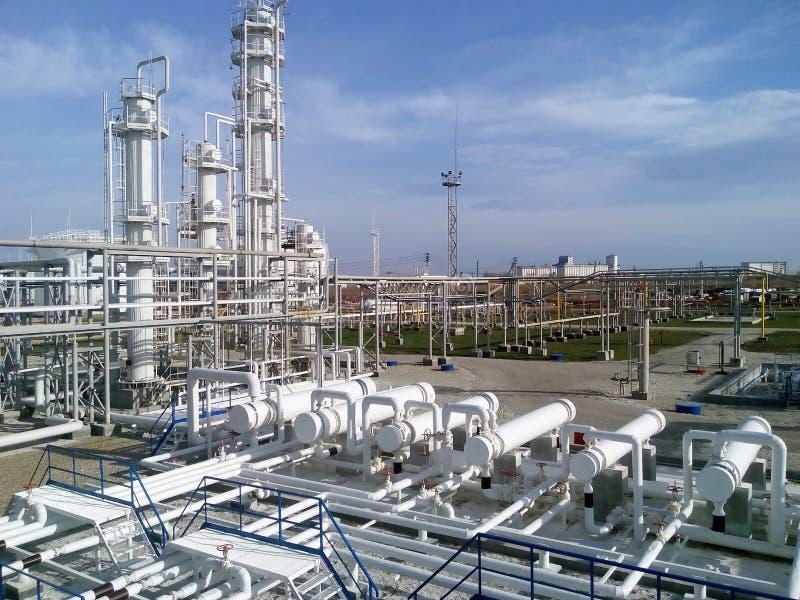 La refinería de petróleo imagenes de archivo