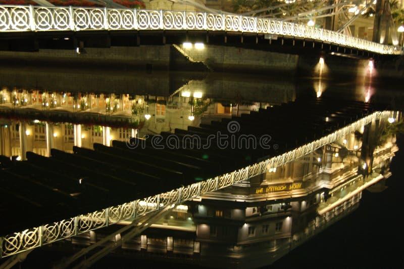 La reflexión del hotel de Fullerton imagen de archivo