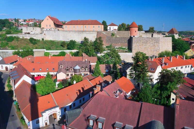 La región hermosa del vino de Eger en Hungría imagenes de archivo