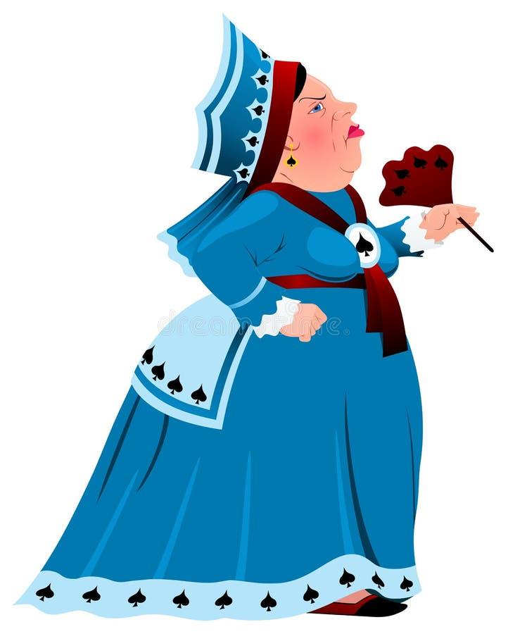 La regina delle vanghe illustrazione vettoriale