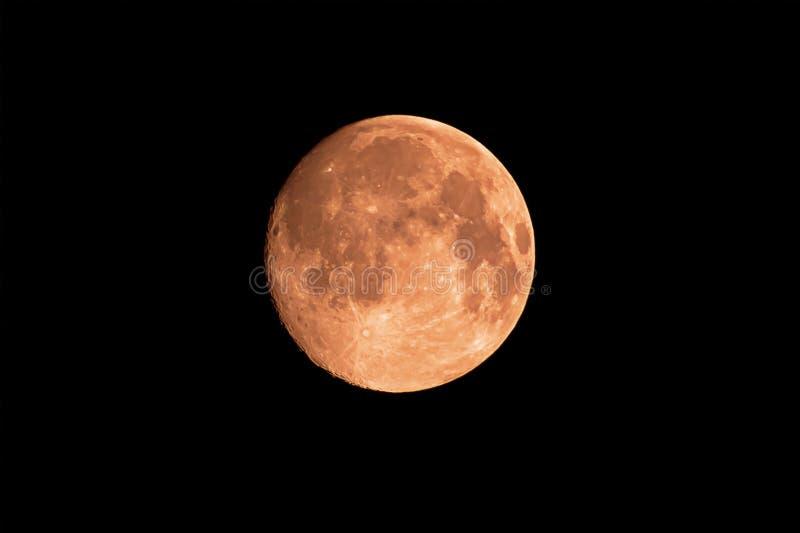 La regolazione della luna nel cielo immagini stock libere da diritti