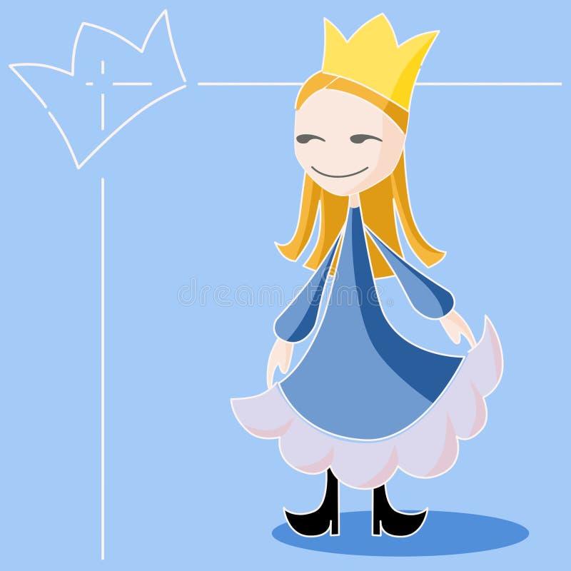 La reina azul stock de ilustración