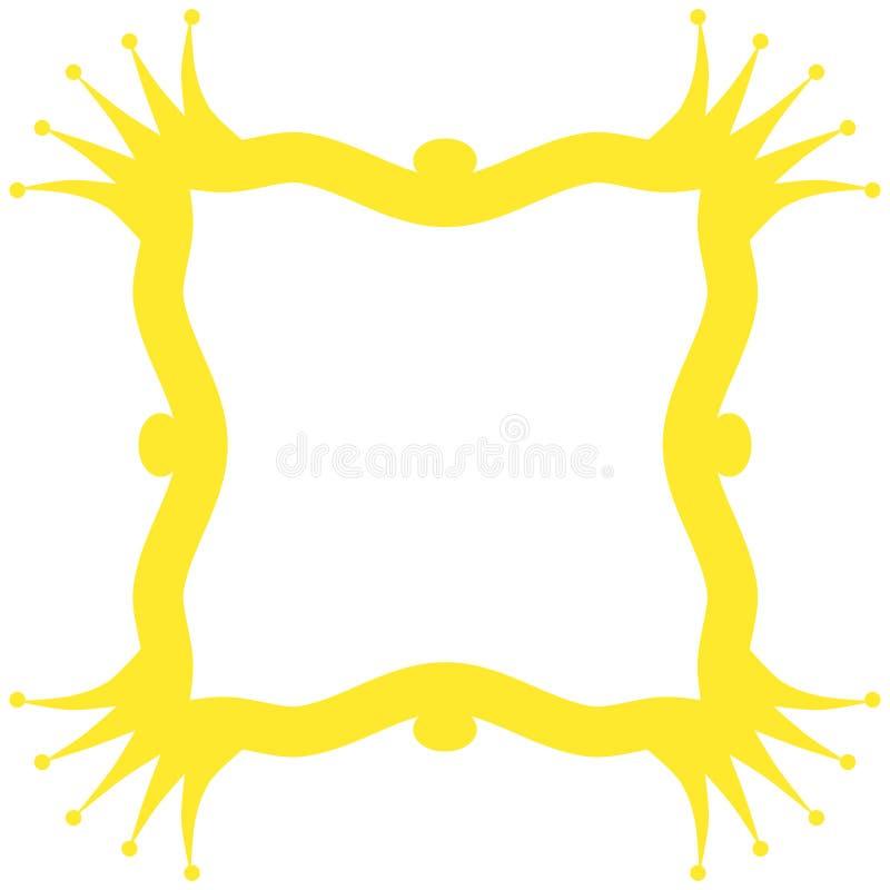 La reina corona el marco de la frontera stock de ilustración