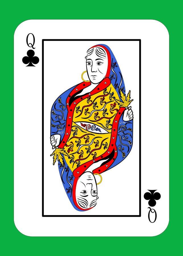 La reina de clubs ilustración del vector