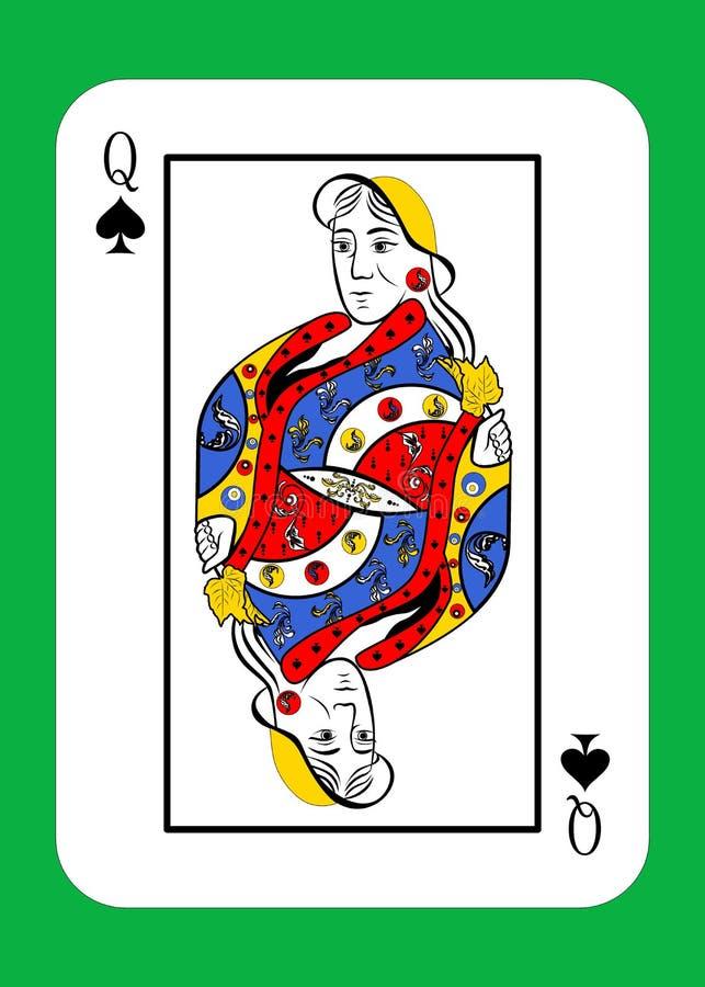 La reina de picos ilustración del vector