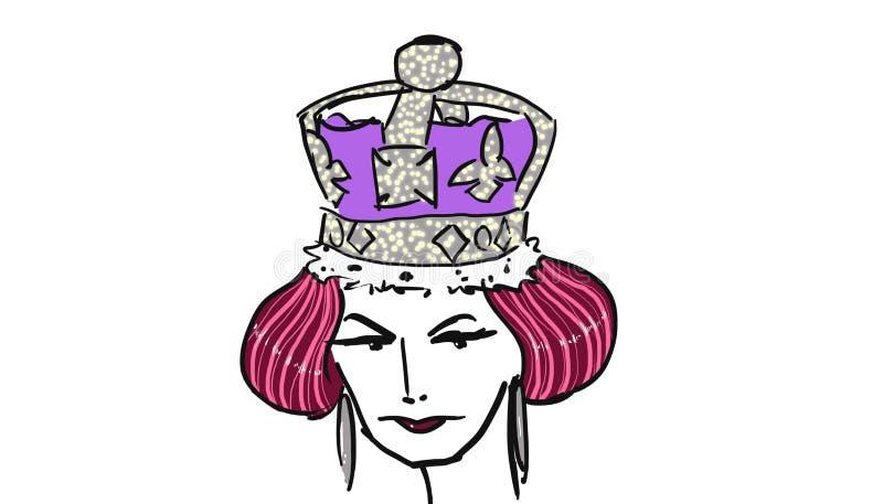 La reina solemne libre illustration