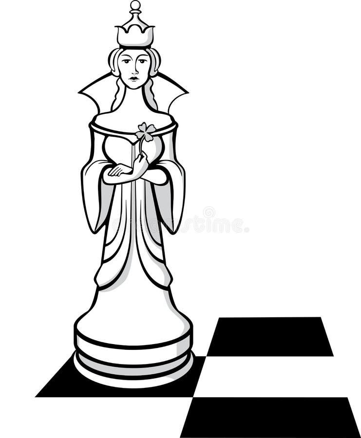 La reine d'échecs illustration de vecteur