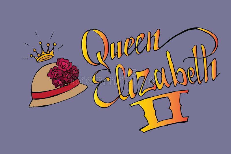La Reine Elizabeth II illustration de vecteur