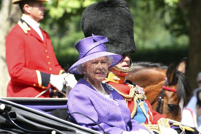 La Reine Elizabeth II et prince Philip photos stock