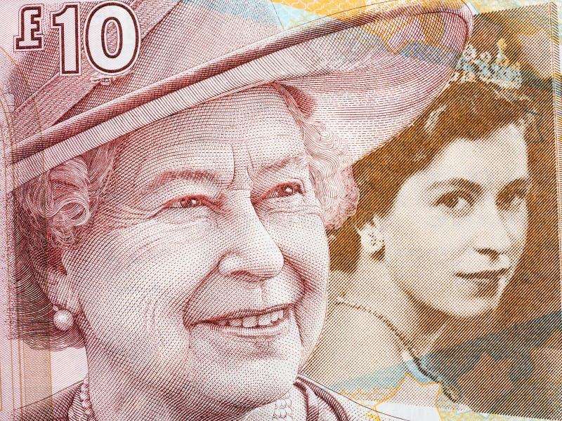 La Reine Elizabeth II, portrait d'argent écossais photo libre de droits