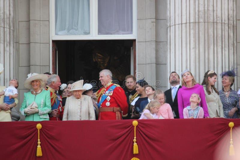 La Reine Elizabeth, Londres R-U, le 8 juin 2019 - la Reine Elizabeth Trooping la photo courante de presse de Buckingham Palace de photo stock