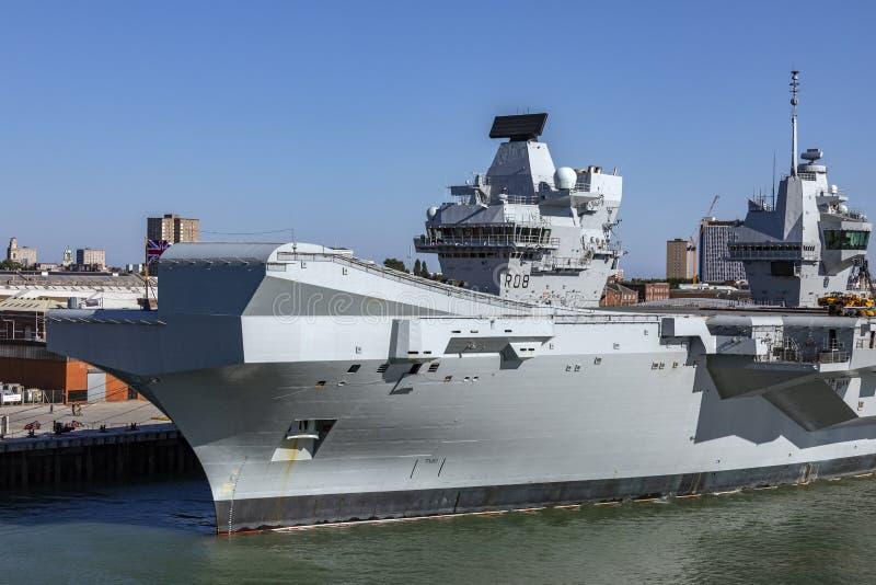 La Reine Elizabeth - marine royale de HMS - la Grande-Bretagne photos stock
