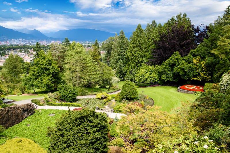 La Reine Elizabeth Park à Vancouver, Canada images libres de droits
