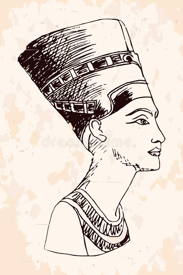 La Reine ?gyptienne Nefertiti illustration stock