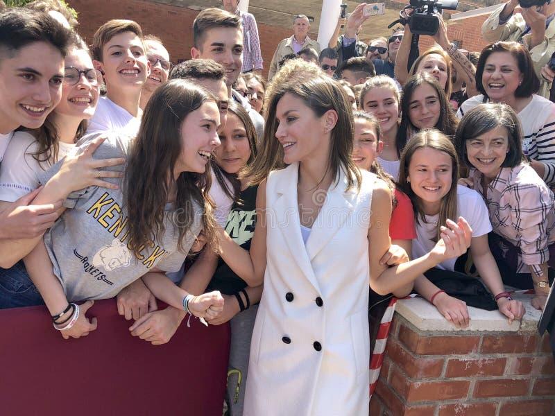 La Reine Letizia de l'Espagne photos stock